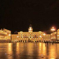 La splendida Piazza Unità d'Italia a Trieste