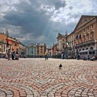 Piazza centrale di Aosta